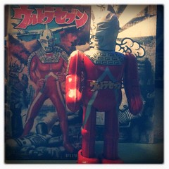 sold (lucy's-fur) Tags: tin ultraman winduptoy billiken