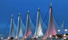 Sails at Canada Place (gordeau) Tags: sails night illuminated lights canadaplace vancouver gordon ashby gordeau architecture thechallengefactory flickrchallengewinner flickrchallengegroup