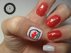 Nail Art - Skull in Love + Tutorial (DboraWernke) Tags: skull heart nail tutorial nailart unha