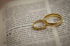 Day 36 - Project 366 (p.d.p.gallery) Tags: wedding love god jesus marriage romance rings bible scripture weddingrings shallowdepthoffield corinthians godislove 1corinthians13 bibleverse 366 project366 patriciaduke
