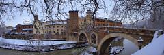 Postacard from Rome: Isola Tiberina under the snow (filippo rome) Tags: italy rome roma italia neve 2012 isolatiberina