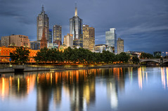 Melbourne 2012 (RayWarrenPhoto) Tags: life city travel bridge summer sky people copyright favorite hot color colour reflection building water skyline architecture night skyscraper river spectacular fun lights photo interesting scenery colorful long exposure flickr ray view cloudy oz australia melbourne scene victoria fave photograph gathering yarra warren cbd sight colourful aussie favourite interest hdr sights comment attraction hdri stockphoto travelphotography raymondo tonemapped tonemap raywarren melbournephotographer generalphotographer raymondoh