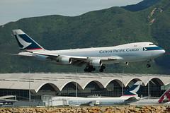 Cathay Pacific Cargo Boeing 747-467ERF B-LIB  MSN 36867 (Jimmy LWH) Tags: aircraft cx cargo boeing flugzeug boeing747 hkg 747 avion sigma100300mm vliegtuig oneworld cpa aeroplano blib 747400f vhhh boeing747400f 波音 ex100300f4 国泰航空 寰宇一家 747467erf lwh1988 14aug2011vhhh msn36867