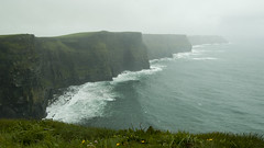 Cliffs of Moher (albinobobman) Tags: ocean ireland storm coast waves foggy cliffside
