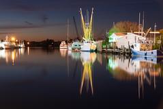 aprs fishing (jclarenbach) Tags: longexposure reflection night port boats coast harbor boat fishing nikon waterfront gulf nightshot florida springs tarpon 18200mm d90 flickraward flickraward5 flickrawardgallery