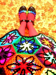Bad Trip Psychedelic Nightmare Crochet Coat (babukatorium) Tags: pink flowers blue red orange black color green art wool fashion yellow dreadlocks star sweater rainbow shoes funny colorful purple recycled handmade turquoise oneofakind coat crochet moda violet knit style mandala blonde button daisy hexagon hippie dread knitted fiori psychedelic maryjanes dreads rasta embellished cardigan bohemian multicolor whimsical extensions fakehair haken icord fakedreads hkeln emeraldgreen croch ganchillo fuxia upcycled uncinetto yarnhair fattoamano woolhair capellifinti yarndreads  dreadextension tii horgolt wooldread woolrovingdreads fakedread babukatorium