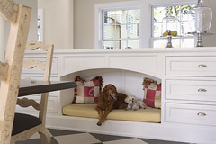 """Breakfast Room built in custom dog bed • <a style=""""font-size:0.8em;"""" href=""""https://www.flickr.com/photos/75603962@N08/6853423847/"""" target=""""_blank"""">View on Flickr</a>"""