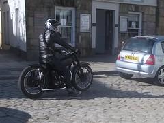 1952 BSA 500 (occama) Tags: old uk classic bike cafe cornwall cycle british motor 500 racer 1952 bsa pvt381