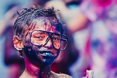 Holi | Dhaka,2014 (Zahin Tanvir) Tags: life portrait cute colors childhood festival kid child joy happiness innocence dhaka holi bangladesh 80200 d7100
