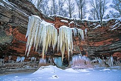The Colors of Ice (Doug Wallick) Tags: winter lake snow ice wisconsin island islands frozen great superior caves cave cornucopia lightroom apostle a55