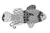 Fish (Ilse Lukken) Tags: blackandwhite fish animal zoo zentangle