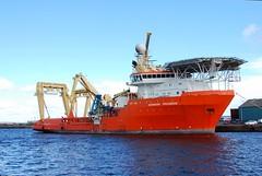 Normand Progress, Port Leith (chemodan) Tags: ocean uk orange docks scotland edinburgh ship terminal oil leith