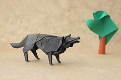 Wolf by Hideo Komatsu (ronatka) Tags: tree origami wolf hideokomatsu tissuefoilpaper raymondyeh origamishopcom