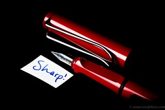 The Pen is Mightier than the Sword (Amar Sood) Tags: red macro nikon sigma softbox d610 sigma105mm