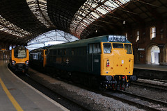 31162 on 0Z48 at Bristol Temple Meads (Tug60044) Tags: west station st train bristol temple phillips shed rail railway trains somerset 66 class marsh railways swanage preservation meads gbrailfreight 31162 railfreight 40013 46045 50035 gbrf 66757 0z48 europorte