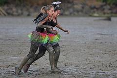 (Paul J's) Tags: woman costume wings rainbow mud event tutu taranaki mudrun urenui nakirunamuck
