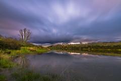 In the lake (AvideCai) Tags: atardecer agua paisaje cielo nubes laguna largaexposicin sigma1020 avidecai