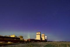 Mossleigh after Midnight (John Andersen (JPAndersen images)) Tags: night stars elevator alberta aurora granary mossleigh