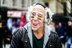 DJ Grandpa (garryknight) Tags: england music london dj grandfather trafalgarsquare samsung grandpa streetperformer performer lightroom nx2000 djgrandpa ononephoto10
