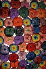 Parasols (pam's pics-) Tags: city urban color art mall dubai uae shoppingmall shoppingcenter umbrellas unitedarabemirates artinstallation parasols pammorris pamspics dubaimall sonya6000