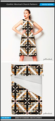 Gothic Revival Check Textile Pattern (Daniel Ferreira-Leites) Tags: abstract geometric collage modern digital design check pattern gothic vivid medieval sharp baroque luxury borders seamless bold revival patternbank repeattextile