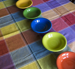 table cloth colors-017 (swardraws) Tags: colorful dish bowl fiestaware