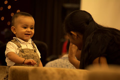 Baby smile... (mukesh.barnwal) Tags: baby kids nikon child smiles highfive playful d5200