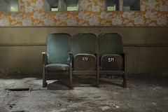 Performance (andre govia.) Tags: flowers cinema abandoned dead demo photography chair downtown photos decay explorer down creepy explore cinematic exploration derelict decayed decaying decayedbuildings englend exploreing andregovia