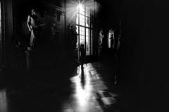 interaction (s@brina) Tags: light shadow blackandwhite monochrome silhouette museum statuesinteraction