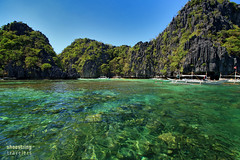 Big Lagoon Entrance (engrjpleo) Tags: sea seascape water rock landscape island coast seaside outdoor philippines karst corals biglagoon elnido palawan waterscape miniloc bacuitbay