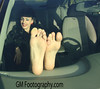 GM Footography (GM Footography) Tags: cars women posing barefeet dashboard soles