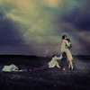 the pain of saying goodbye (brookeshaden) Tags: light field clouds death hug clones goodbye dying embrace storytelling fineartphotography texturebylesbrumes alexstoddard