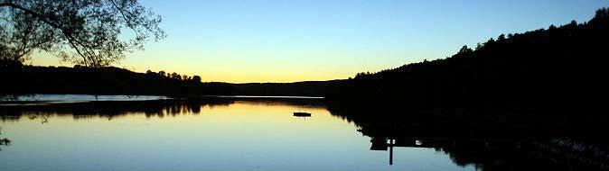 Sonnenuntergang über dem Brombachsee