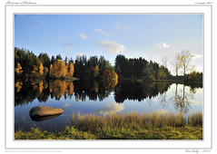 Couleurs d'Automne (BerColly) Tags: autumn sky lake france clouds automne boat google flickr lac nuages bateau auvergne cantal coel cregut bercolly