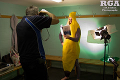 Educating A Banana (Official Manchester Phoenix Photography) Tags: costume shoot calendar banana 2012 joshward manchesterphoenix richardallan
