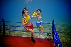 UW-ChineseBoxing 27 (steadichris) Tags: underwater models chinese scuba lingerie cebu boxing breathhold