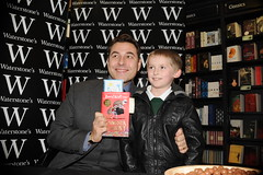 """David Walliams book signing for his children's book """"Gangsta Granny"""" held at Waterstones, High Street, Birmingham (Stanthefan) Tags: england book birmingham granny childrensbook gangsta signing westmidlands waterstones davidwalliams gangstagranny"""