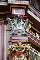 Dragon on top of an ionic column in Leadenhall market (albionphoto) Tags: england london architecture landscape leadenhallmarket lloyds cityoflondon