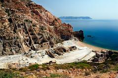(emme.M) Tags: sea summer beach island mine mediterranean mediterraneo mare estate milo greece grecia sulfur spiaggia cyclades milos isola cicladi egeo miniera egean zolfo paliorema
