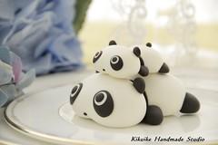 Birthday cake topper - Tare panda (charles fukuyama) Tags: birthday blackandwhite panda handmade custom sculpted tarepanda cakedecoration claydoll birthdaycaketopper