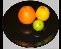 Citrus on black plate (Ivan Naurholm. thanks, for more than 500.000 views) Tags: orange lemon citrus lime citron appelsin citrusfruit flickrchallengegroup