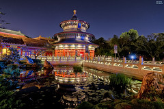 Made in China (TheTimeTheSpace) Tags: china reflections epcot nikon disney disneyworld wdw waltdisneyworld templeofheaven worldshowcase chinapavilion d7000 tokina1116