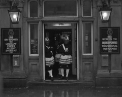 Lancashire day 4 (Born in York) Tags: rain pub hc110 nelson 26november nikonf90 lordnelsonhotel clogdancers lancashireday nikkor2885mm ilfordp4
