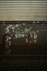 (Badison) Tags: blue white black station metal train underground subway concrete waiting paint decay gray rail tunnel third mta 24mm peel parrallel sooc sonynex3