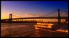 Unspeakable [Williamsburg Bridge at sunset] (Yohsuke_NIKON_Japan) Tags: nyc bridge sunset usa newyork pen manhattan bluesky olympus eastriver 夕陽 williamsburg dust アメリカ ニューヨーク 青空 colorefex イーストリバー willimasburgbridge microfourthirds epl2 eastriverferry