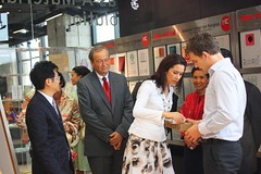 Crown Princess Mary inspecting Xanita Board in Thailand