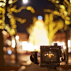 Turn My World Upside Down This Christmas (Dr. RawheaD) Tags: christmas moon tree boston speed canon eos 50mm quincy hall graphic market bokeh mk2 5d autos zuiko faneuil graflex ttf f12 pacemaker