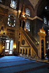 blue masjid, istanbul (architorture republik) Tags: blue light turkey interior muslim islam prayer pray istanbul mosque dome masjid islamic dua mehrab turkeye