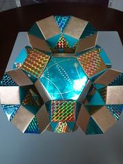 K5 Galaxy Pentagonal Cupola1 (Origami Tatsujin 折り紙) Tags: blue gold shiny prism papercrafts modularorigami tomokofuse geometricbeauty kasahara geometricart tetrahedralsymmetry squareflatunit regularhexagonalflatunit k5galaxystewarttoroid origamiblue artpolyhedrapapiroflexiatomoko fusekuniko kunikokasahara