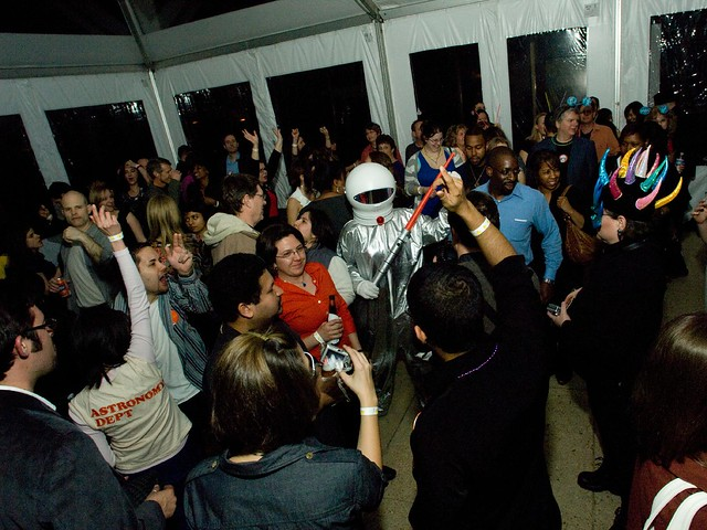 Yuri's Night Dancing / Science on a Sphere / Yuri's Night at Goddard